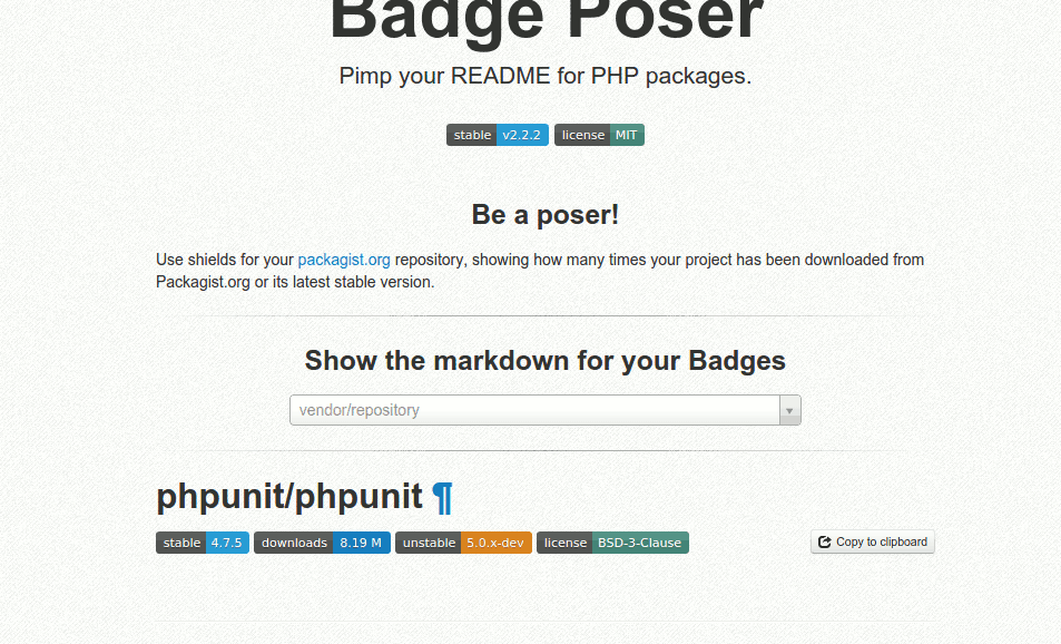 GitHub badges! (PHP repository)